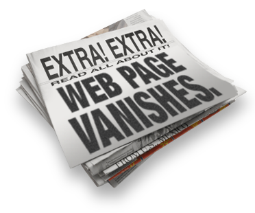 Web Page Vanishes